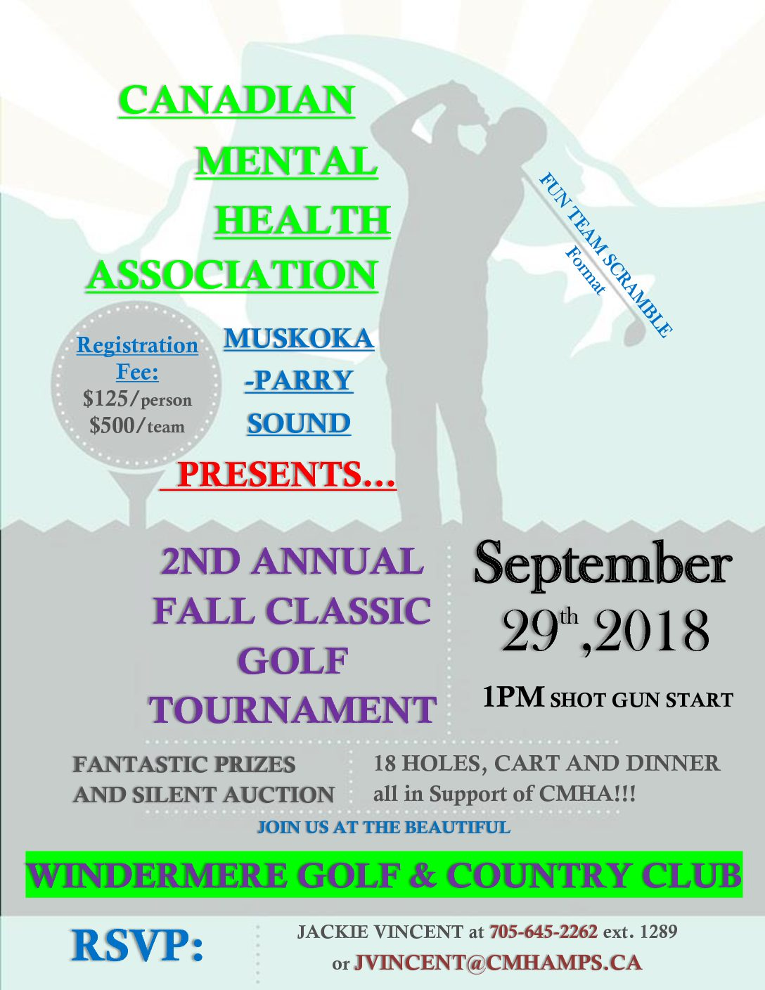 Fall Classic Golf Tournament @ Windermere Golf & Country Club – September 29, 2018