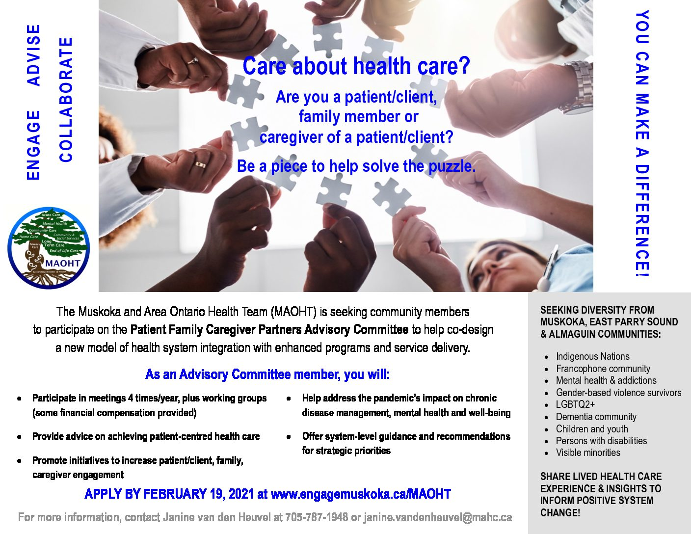 Patient Family Caregiver Partners Advisory Committee (PFCPAC) Expression of Interest Overview