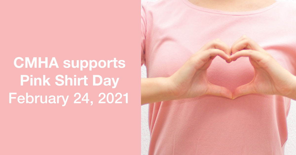 CMHA supports Pink Shirt Day
